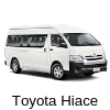 car rental toyota hiace